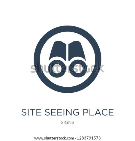 site seeing place icon vector on white background, site seeing place trendy filled icons from Signs collection, site seeing place vector illustration