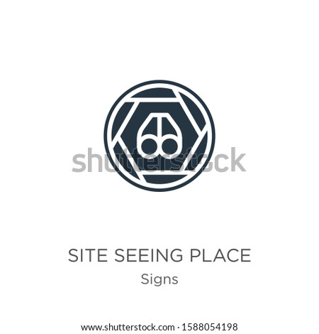 Site seeing place icon vector. Trendy flat site seeing place icon from signs collection isolated on white background. Vector illustration can be used for web and mobile graphic design, logo, eps10