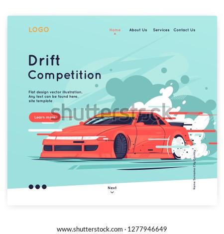 site template drift  the car