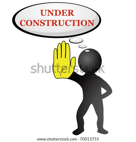 Site Under construction vector isolated on white
