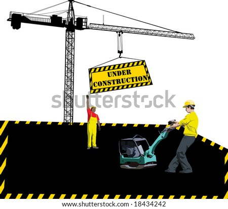 site under construction. stock vector : Site under
