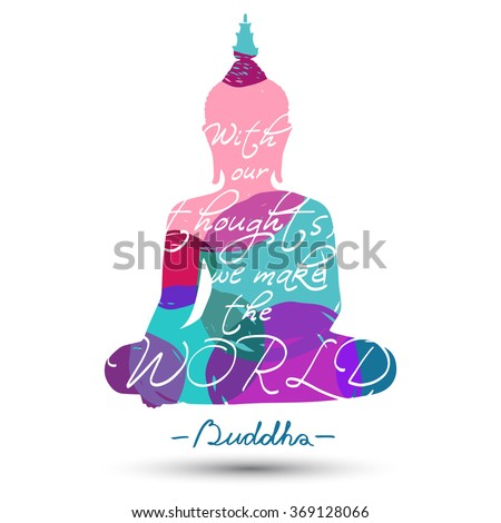 sitting buddha silhouette with