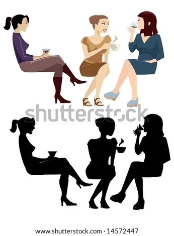 Sitting People Collection 2-vector