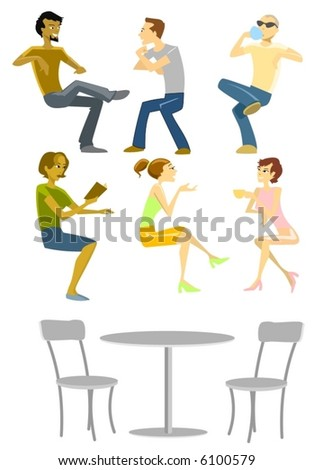 Sitting People Collection-vector