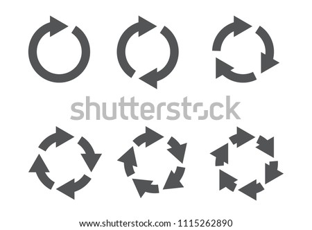 Six arrow reload icons  vector illustration on background #1115262890