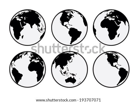 six black and white vector