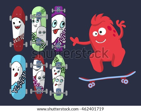 six bright skateboard with