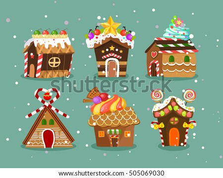 Free Christmas Gingerbread House Vector Download Free Vector Art - Christmas gingerbread house