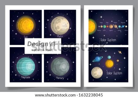 six designs of solar system