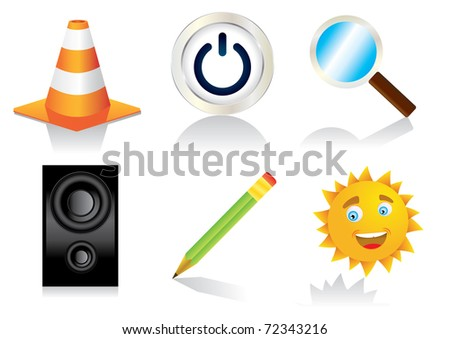 six detail icons vector eps8
