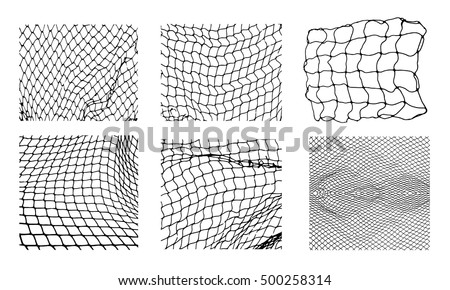 six different net patterns....