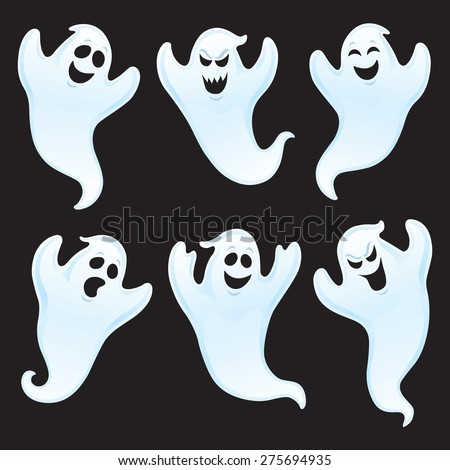 six ghost characters with