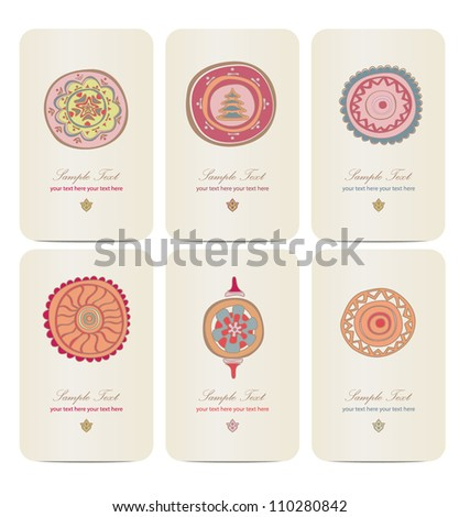six greeting cards