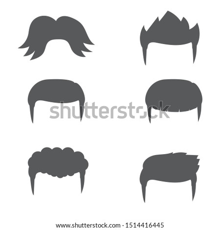 Six male hairstyle short hair and long hair.