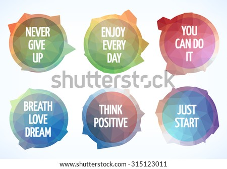six motivation posters  vector