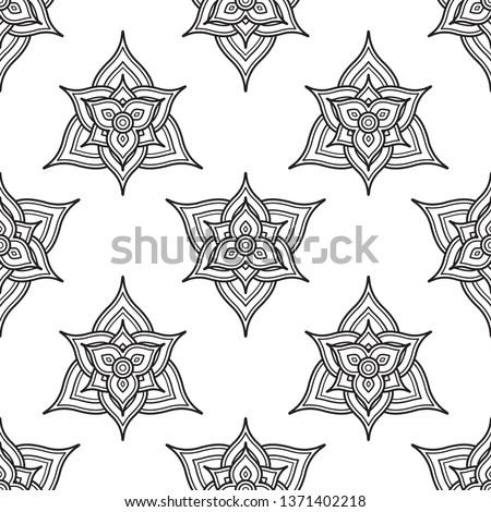 six petals flower fabric print