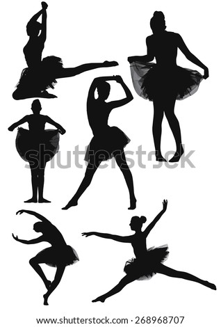 six silhouette collection of a