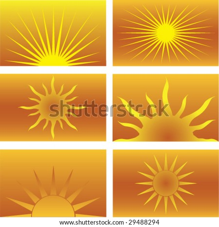 Six Sun Illustrations