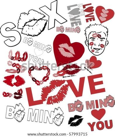 sixteen valentines love vectors