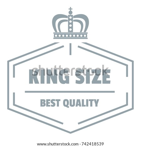 Size king logo. Simple illustration of size king vector logo for web