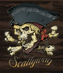 Skallywag Pirate Skull