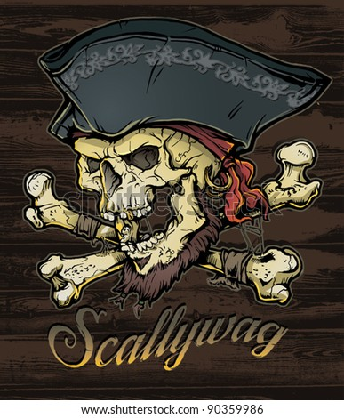 Skallywag Pirate Skull