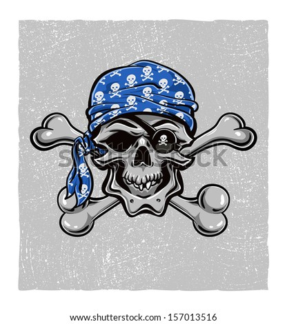 skallywag pirate skull vector