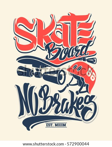 skate board no brakes  t shirt