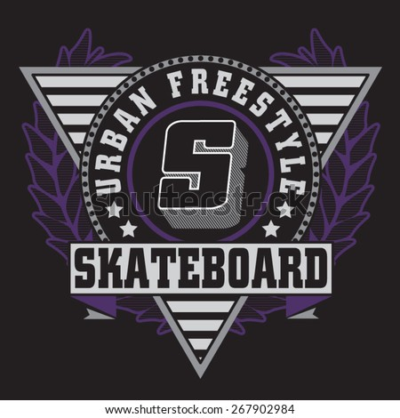 skate board sport typography  t