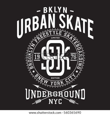 skate board sport typography