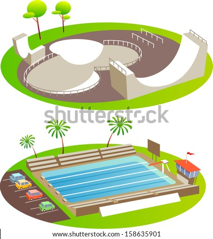 skate park and pool fun