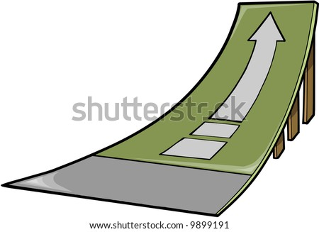 Skate Ramp Vector Illustration