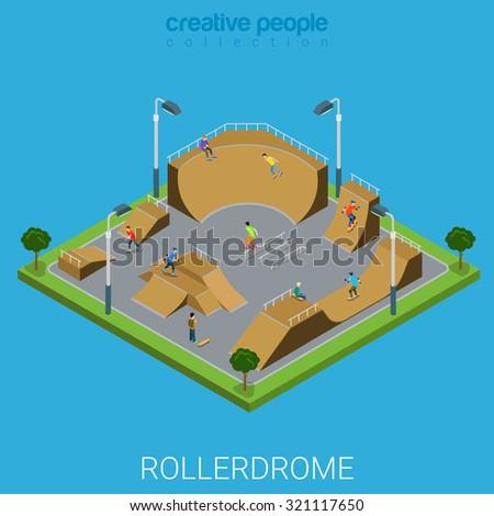 skate roller arena rollerdrome