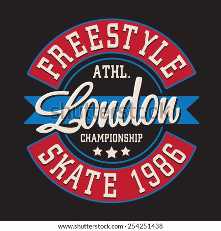 skate sport london typography