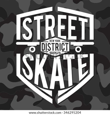 skate sport  typography  t