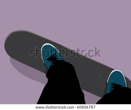 skateboard - stock vector