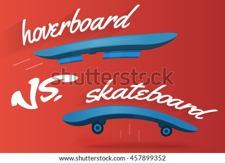 skateboard and hoverboard race