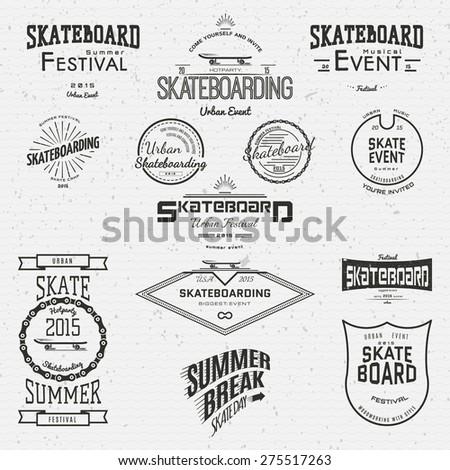 skateboard badges logos and