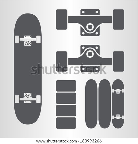 skateboard  fingerboard icon