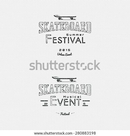 Skateboard Graffiti, skateboard logo, skateboard stickers, print skateboard, lettering skateboard, skateboard stamp - can be used in the design of its products