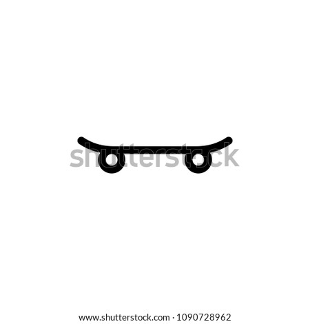 skateboard icon. Element of sport icon for mobile concept and web apps. Isolated skateboard icon can be used for web and mobile. Premium icon on white background