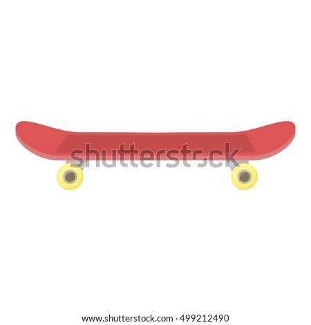 skateboard icon in cartoon