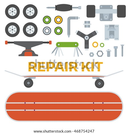 skateboard riding repair kit