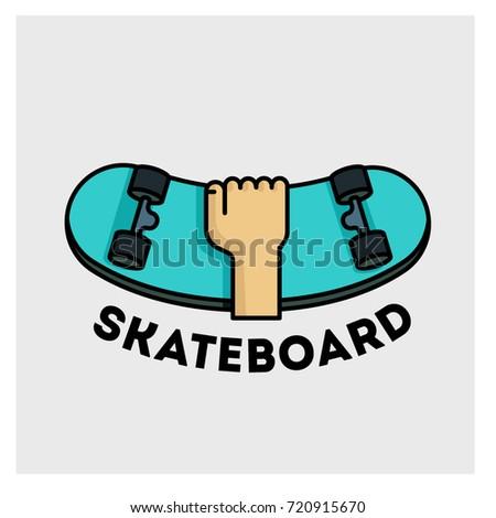 skateboard school shop logotype