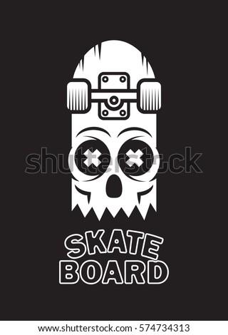 skateboard skull design