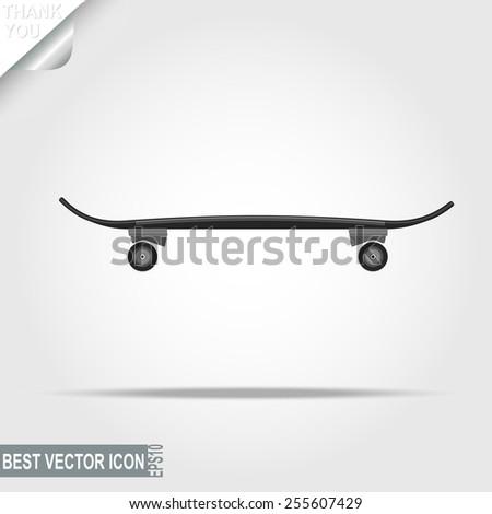 Skateboard, sport icon, urban activity - vector illustration