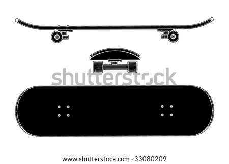 Skateboard Vector 01