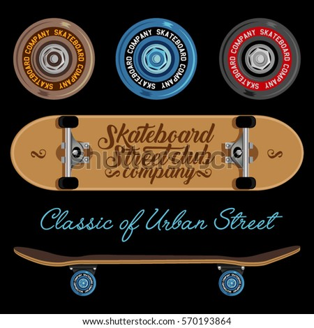 skateboard wheels and decks
