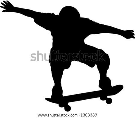 skateboarder - stock vector