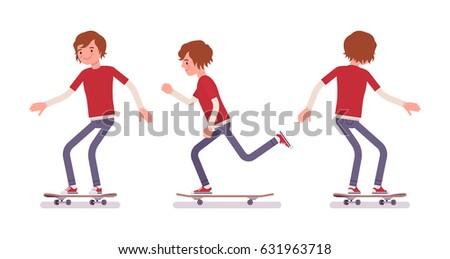 skateboarder boy  wearing jeans ...